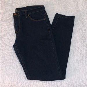 Dark Wash Skinny Jeans (NWOT)